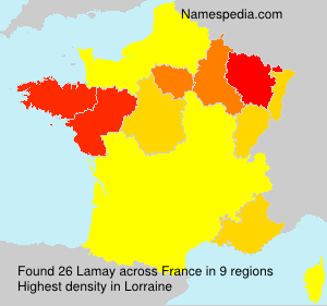 Surname Lamay in France