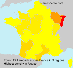Surname Lambach in France