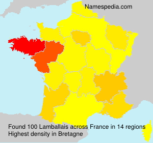 Surname Lamballais in France