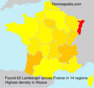 Surname Lamberger in France