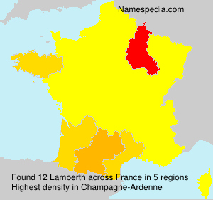 Surname Lamberth in France