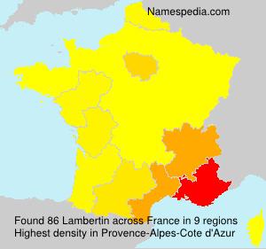 Familiennamen Lambertin - France