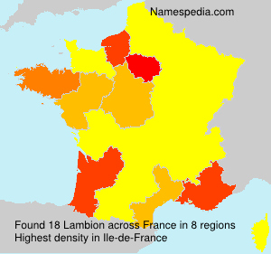 Surname Lambion in France