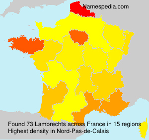 Surname Lambrechts in France