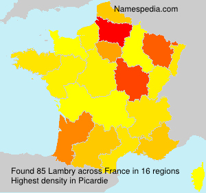 Surname Lambry in France
