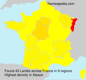 Surname Lambs in France