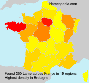 Surname Lame in France