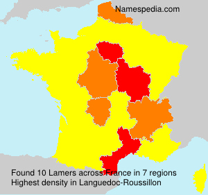 Surname Lamers in France