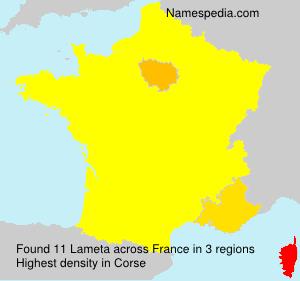 Surname Lameta in France