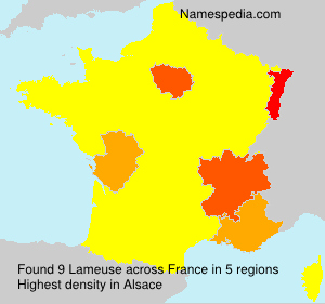 Surname Lameuse in France
