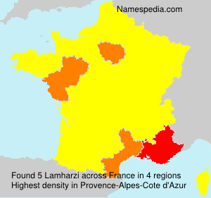 Surname Lamharzi in France