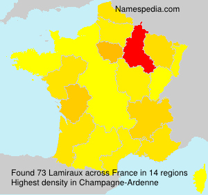Surname Lamiraux in France