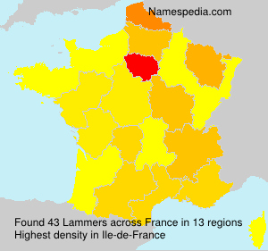 Surname Lammers in France