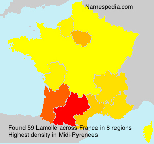 Surname Lamolle in France