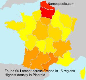 Familiennamen Lamont - France