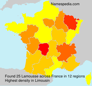 Surname Lamousse in France