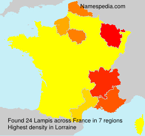 Surname Lampis in France