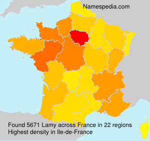 Surname Lamy in France