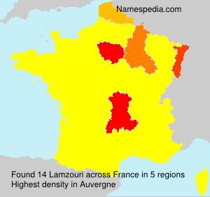 Surname Lamzouri in France
