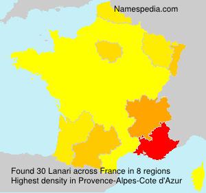 Surname Lanari in France