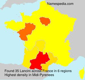 Surname Lancini in France