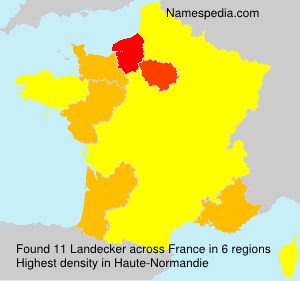 Surname Landecker in France