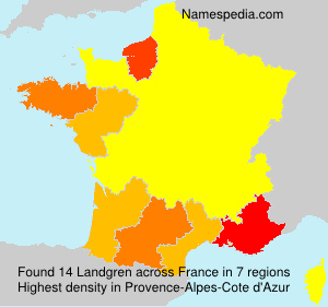 Surname Landgren in France
