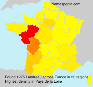 Surname Landreau in France