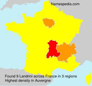 Familiennamen Landrini - France