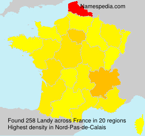 Surname Landy in France