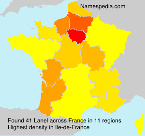 Surname Lanel in France