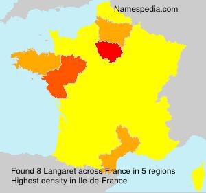 Familiennamen Langaret - France