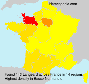 Surname Langeard in France