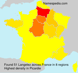 Surname Langelez in France