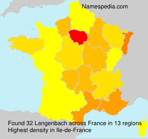 Surname Langenbach in France