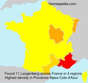 Surname Langenberg in France