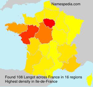 Surname Langot in France