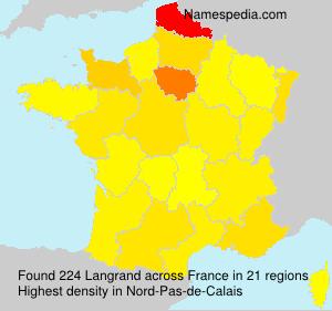 Surname Langrand in France