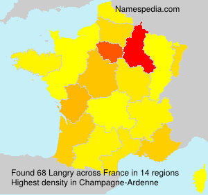 Surname Langry in France
