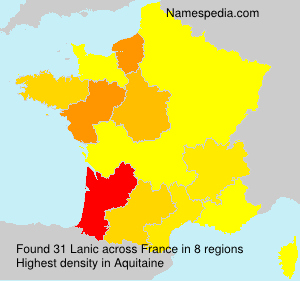 Surname Lanic in France