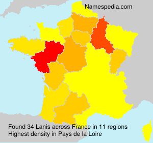 Surname Lanis in France