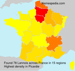 Surname Lannois in France