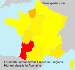 Surname Lannot in France