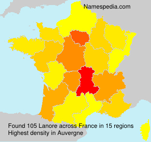 Surname Lanore in France
