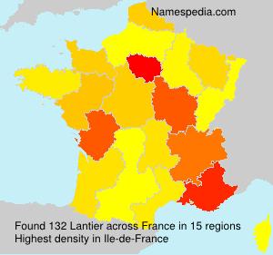 Surname Lantier in France
