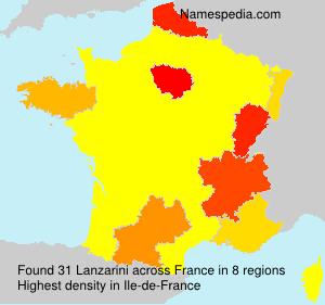 Familiennamen Lanzarini - France