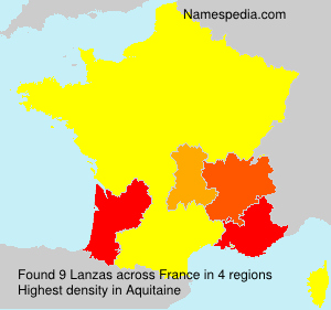Surname Lanzas in France