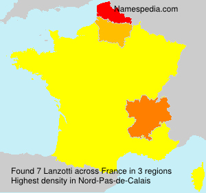 Surname Lanzotti in France
