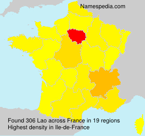 Surname Lao in France