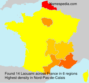 Surname Laouami in France